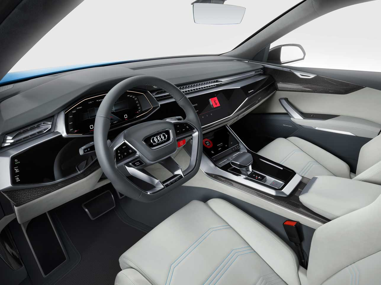 audi q8 concept – augmented reality – fat