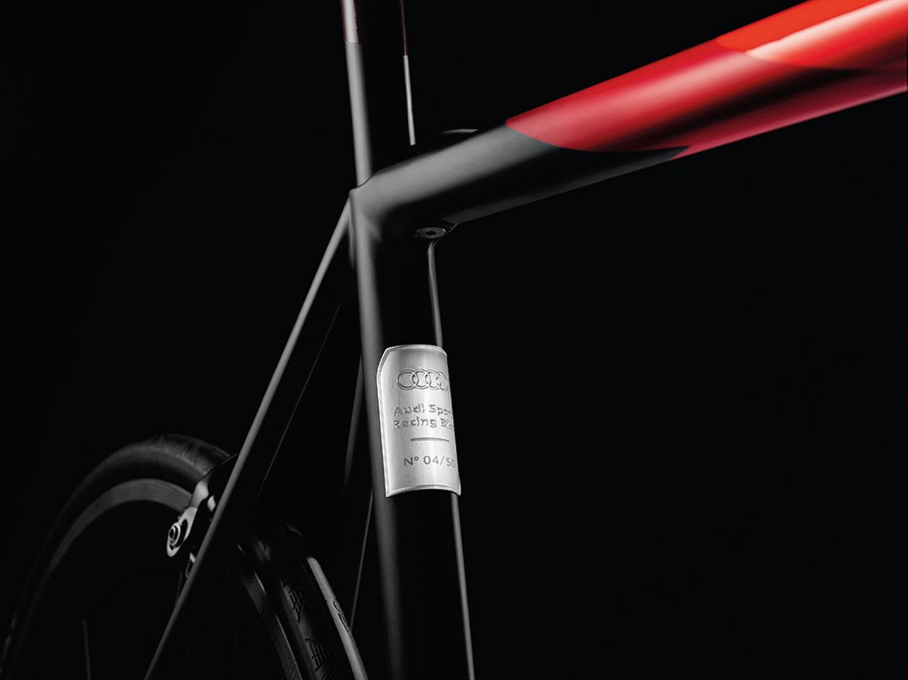 Carbon-Rennrad von Audi, Detail