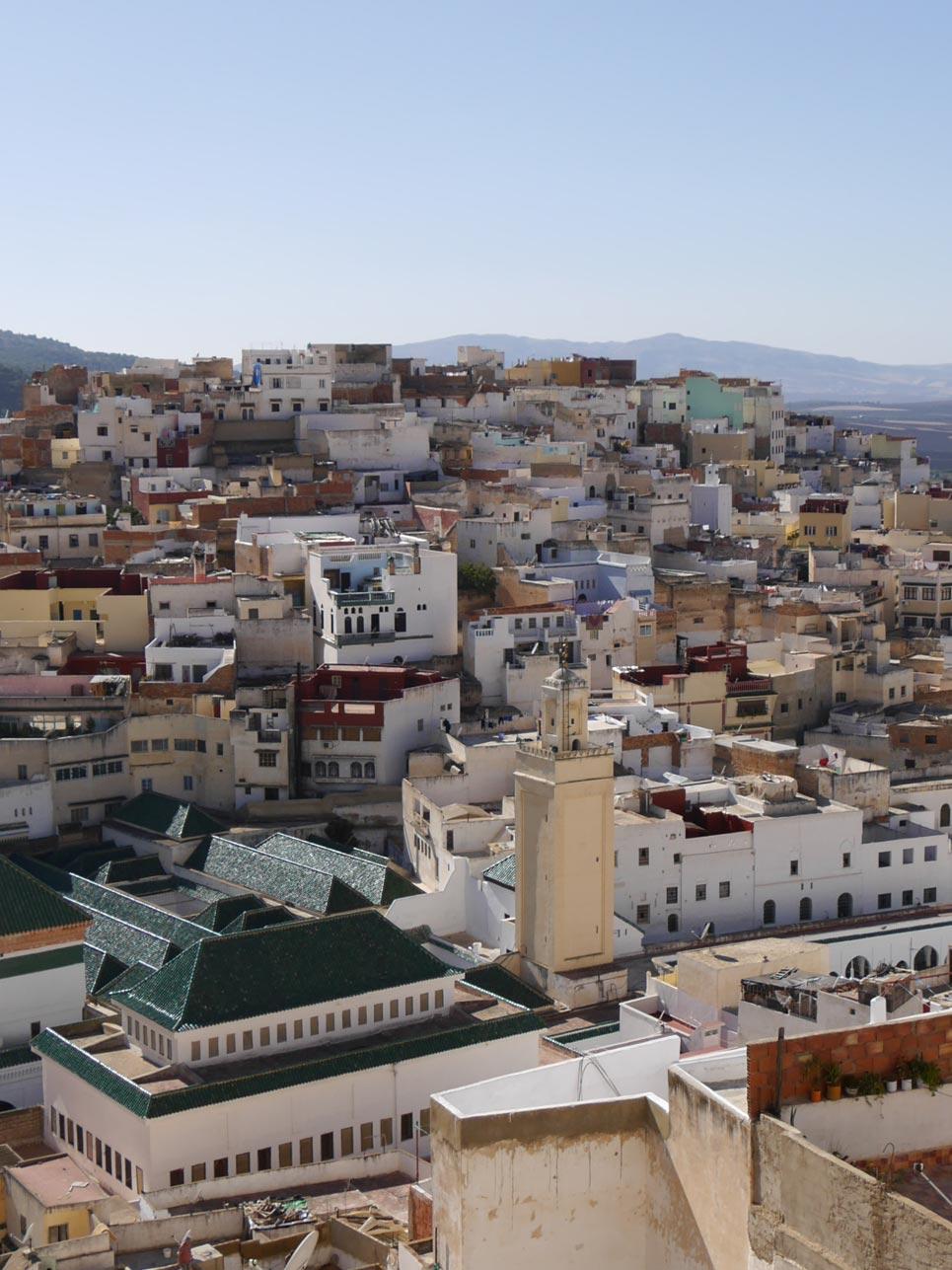 Schnappschuss des Tages: Ausblick auf die Medina von Molay Idriss